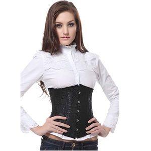 Women's Sexy black fashion corset size Xlarge